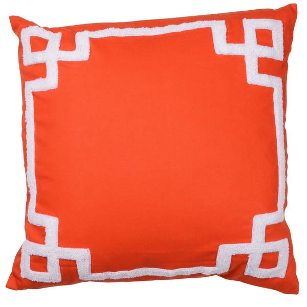 Orange 18-inch x 18-inch Embroidered Pillow