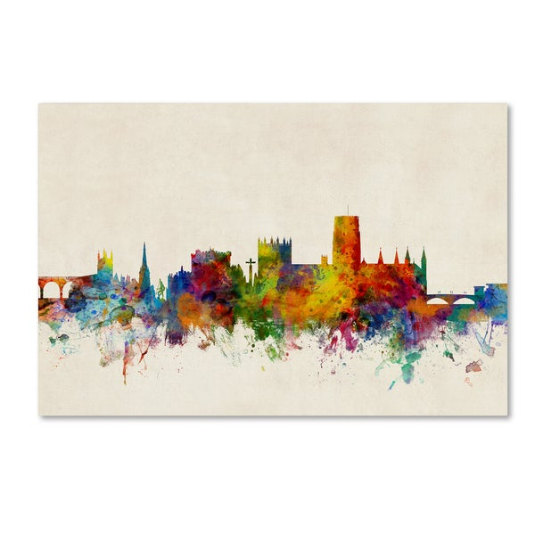 Michael Tompsett 'Durham England Skyline Beige' Canvas Art