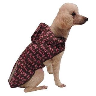 L&C Puppy-ro Reflective Pink/Brown Dog Raincoat 3-piece Set