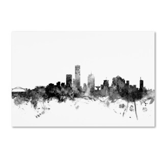 Michael Tompsett 'Milwaukee WI Skyline B&W' Canvas Art
