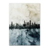 Michael Tompsett 'Chicago IL Skyline Tall 2 ' Canvas Art