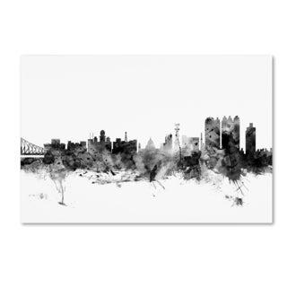 Michael Tompsett 'Calcutta India Skyline B&W' Canvas Art