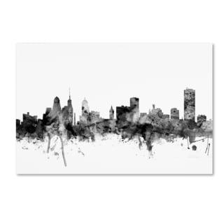 Michael Tompsett 'Buffalo New York Skyline B&W' Canvas Art