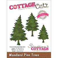 "CottageCutz Elites Die -Woodland Pine Trees 1""X1.5"" To 1.5""X2.5"""