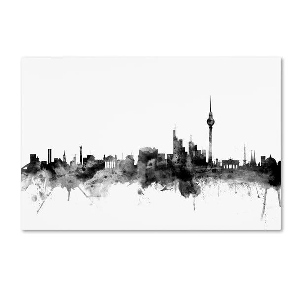Michael Tompsett 'Berlin Germany Skyline B&W' Canvas Art