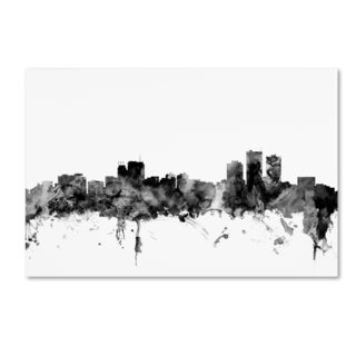Michael Tompsett 'Anchorage Alaska Skyline B&W' Canvas Art