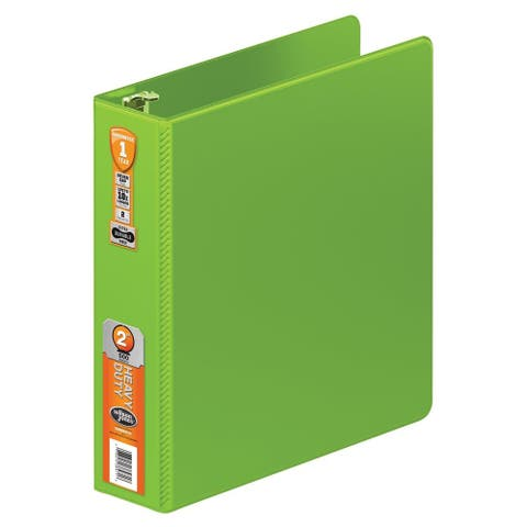 Wilson Jones Chartreuse 2-inch Heavy-duty Round Ring Binder 8-pack with Extra-durable Hinges