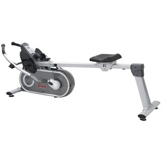 Sunny Health & Fitness SF-RW5624 Full Motion Magnetic Rowing Machine Rower with LCD Monitor - Silver