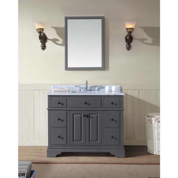 Shop Chela Single Bathroom Vanity Set Maple Grey Free - 42 gray bathroom vanity