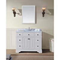 "Chela 42"" Single Bathroom Vanity Set - White"