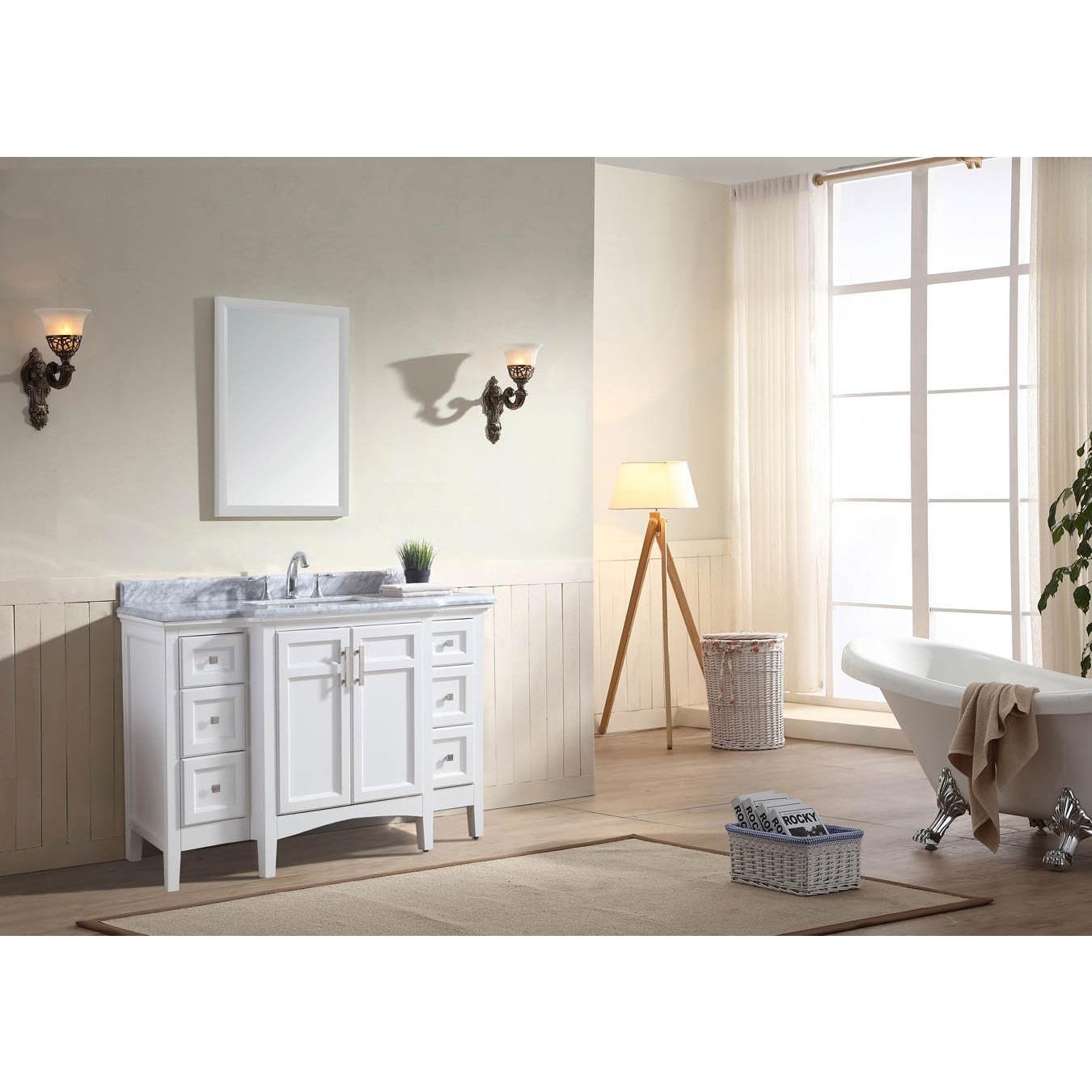 Ari Kitchen And Bath Luz 48 Single Bathroom Vanity Set White Overstock 13535454