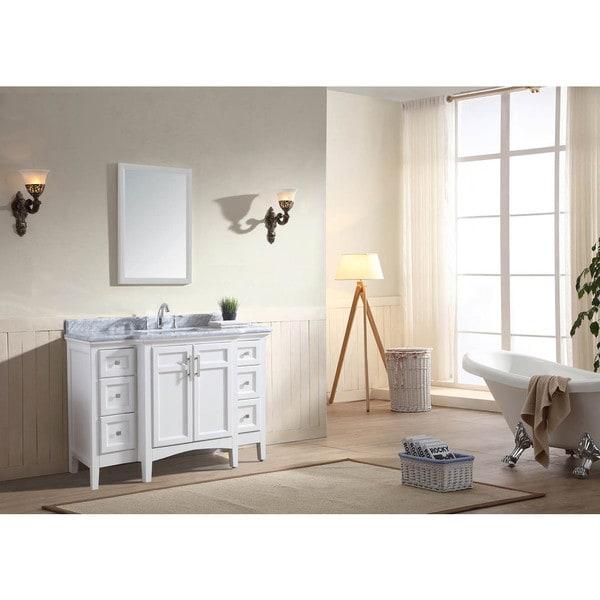 "Ari Kitchen and Bath Luz 48"" Single Bathroom Vanity Set - White"