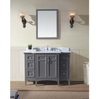 "Ari Kitchen and Bath Luz 48"" Single Bathroom Vanity Set - Maple Grey"