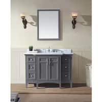 "Ari Kitchen and Bath Luz 48"" Single Bathroom Vanity Set - Maple Grey"