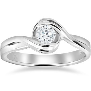 14K White Gold 1/2 ct TDW Diamond Solitaire Engagement Ring