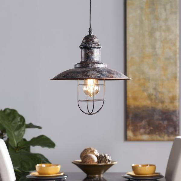 Industrial Bell Pendant Light: Shop Harper Blvd Alcazette Industrial Bell Pendant Lamp