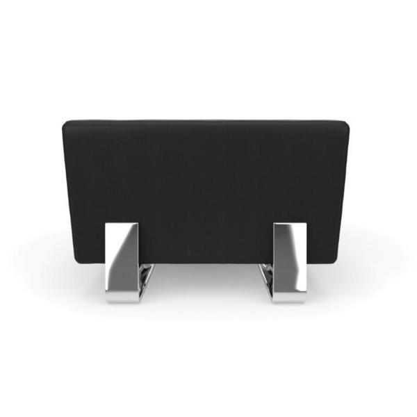 OFM Axis Series Single Bench with Chrome Frame