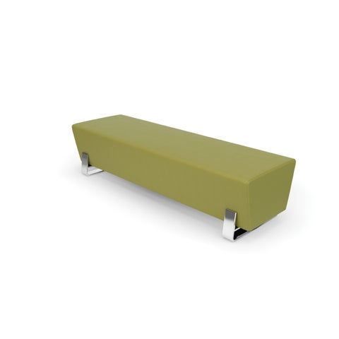 OFM Axis Series Triple Bench with Chrome Frame