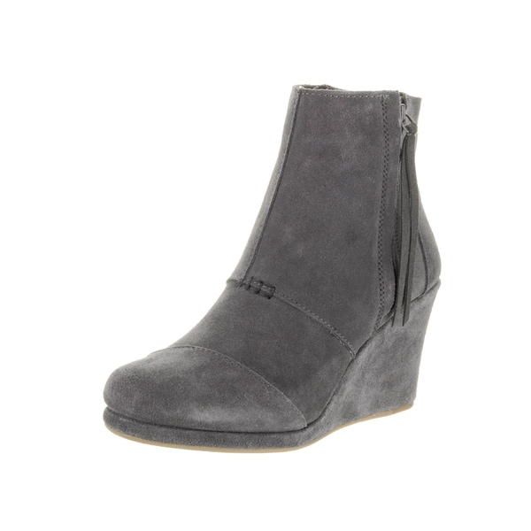 673f08295db Shop Toms Women s Desert Grey Suede Wedge High Boot - Ships To ...