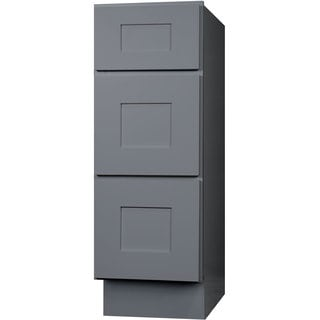 Everyday Cabinets 15-inch Gray Shaker Bathroom Vanity Drawer Base Cabinet