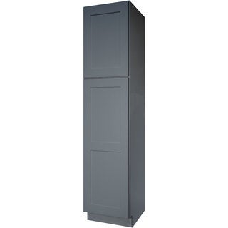 18-inch Grey Shaker Bathroom Linen Cabinet