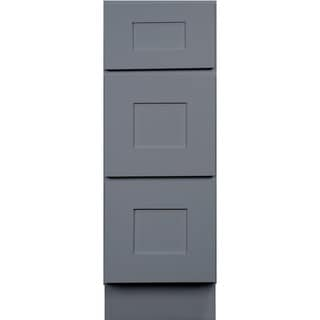 12-inch Grey Shaker Bathroom Vanity Cabinet