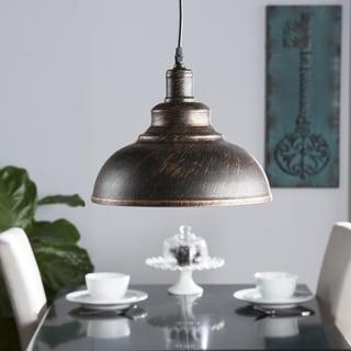 Carbon Loft Sibhan Bell Black Copper Pendant Light