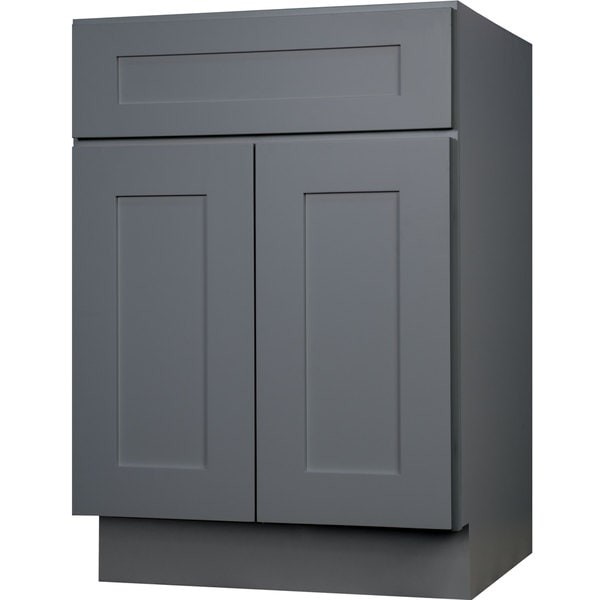 Everyday cabinets 30 inch gray shaker single sink bathroom - 30 inch single sink bathroom vanity ...