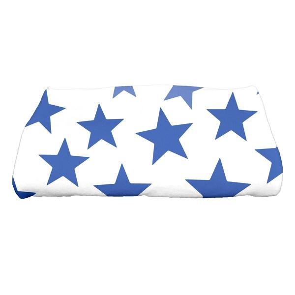 28 x 58-inch, Just Stars, Geometric Print Bath Towel