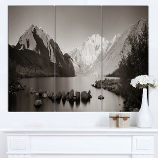 Designart 'Snow Mountain Lake Panorama' Large Landscape Canvas Art
