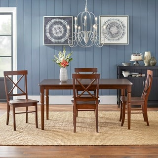 Delightful Simple Living Albury Cross Back Dining Set