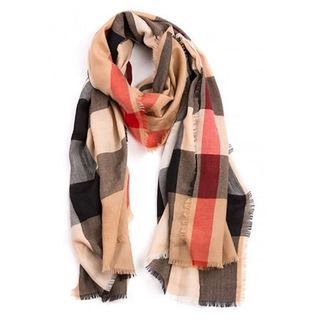 Burberry Mega Check Cashmere Lightweight Large Scarf