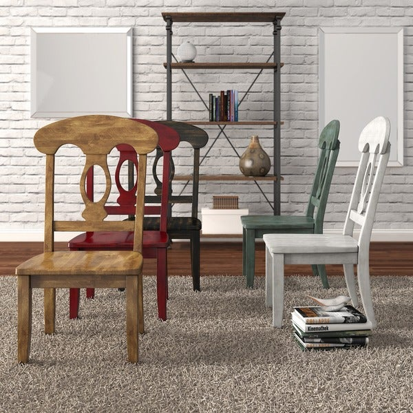 Eleanor Napoleon Back Wood Dining Chair Set Of 2 By