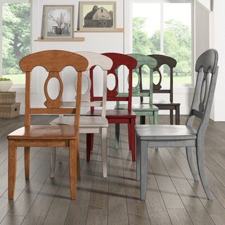 Eleanor Napoleon Back Wood Dining Chair (Set of 2) by iNSPIRE Q Classic (Option: Antique White)