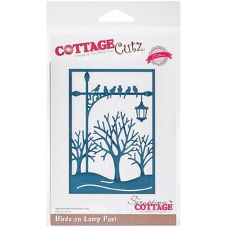 """CottageCutz Elites Die -Birds On Lamp Post, 3.5""""X5"""""""