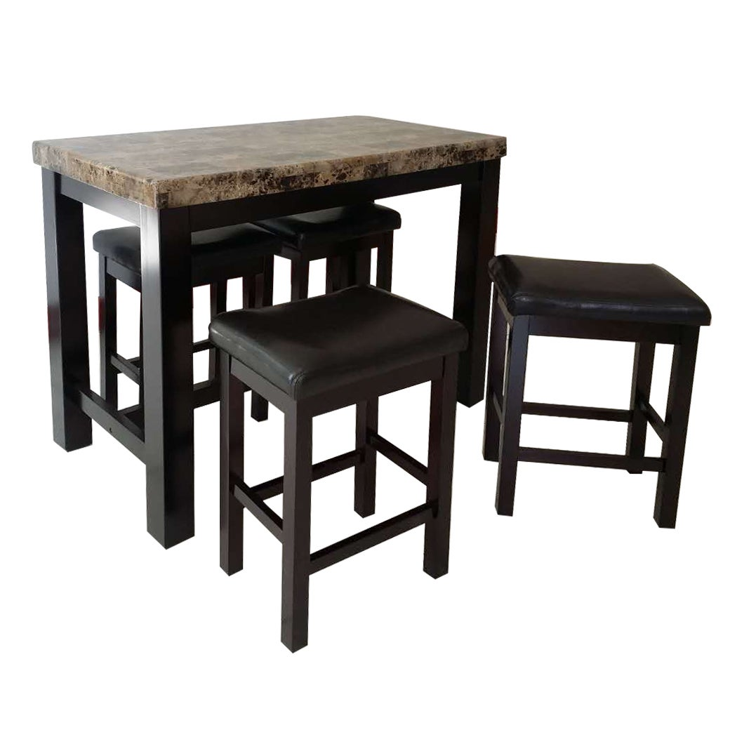 Rocco Rectangular Pub Table 5 Piece Set Overstock 13535735