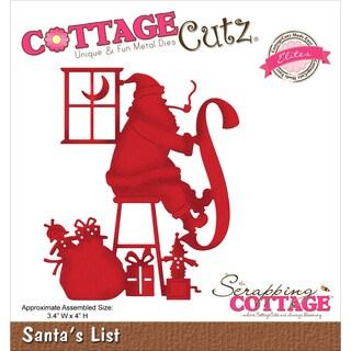 """CottageCutz Elites Die-Santa's List 3.4""""X4"""""""