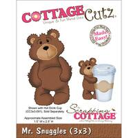 "CottageCutz Die -Mr. Snuggles 1.5""X2.5"""