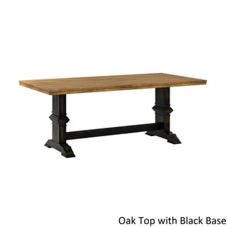 Eleanor Two-tone Rectangular Solid Wood Top Dining Table by TRIBECCA HOME