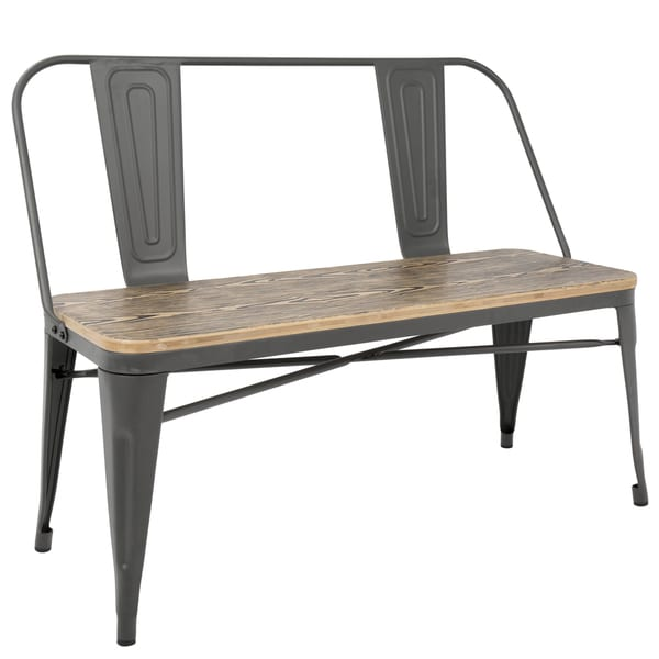 Carbon Loft Boyer Industrial Metal and Wood Dining/ Entryway Bench. Opens flyout.