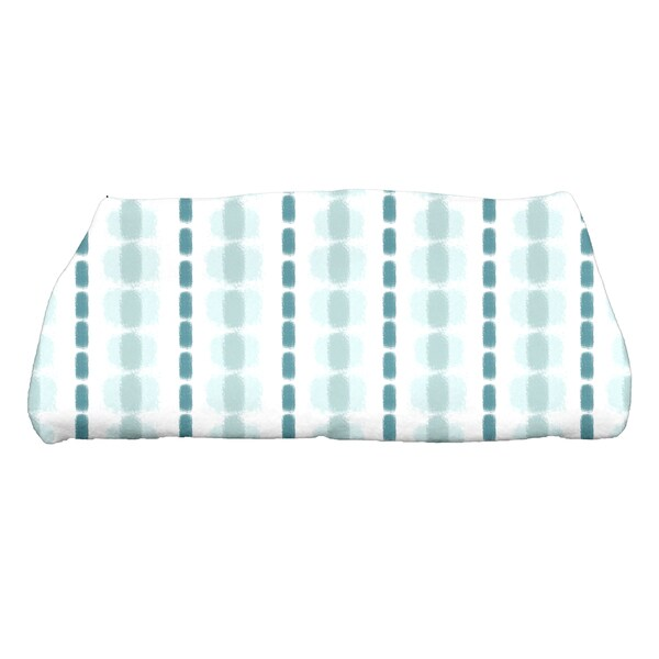 Watercolor Stripe Print Bath Towel