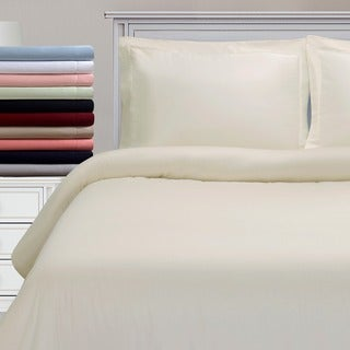 Superior 300 Thread Count Cotton Antimicrobial Duvet Cover Set