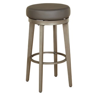 Angelo:HOME Linden Leather Swivel Stool (Set of 2) (More options available)