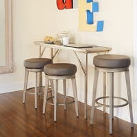 Angelo:HOME Linden Leather Swivel Stool (Set of 2)