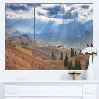 Designart 'Beautiful Mountain Village View' Large Landscape Canvas Art