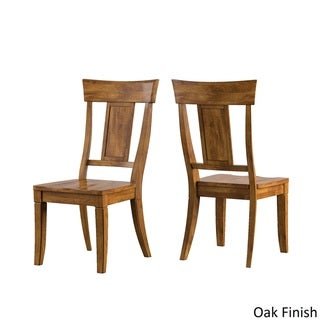 Eleanor Panel Back Wood Dining Chair (Set of 2) by TRIBECCA HOME