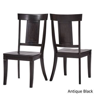 Eleanor Panel Back Wood Dining Chair Set Of 2 By Inspire Q Clic