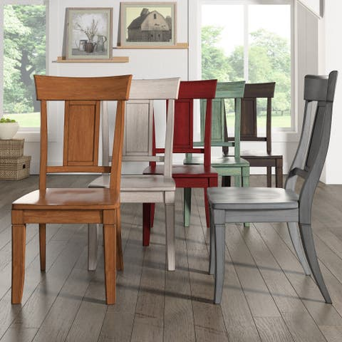 31d6bac5f Eleanor Panel Back Wood Dining Chair (Set of 2) by iNSPIRE Q Classic