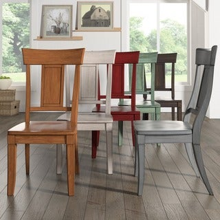 Eleanor Panel Back Wood Dining Chair (Set of 2) by iNSPIRE Q Classic (3 options available)