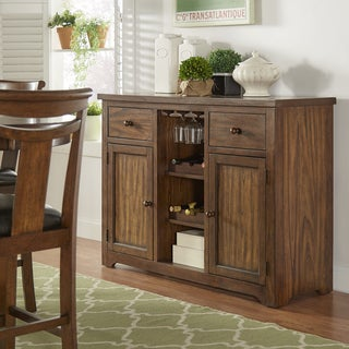 Tuscany Brown Wood Wine Rack Buffet Server by iNSPIRE Q Classic